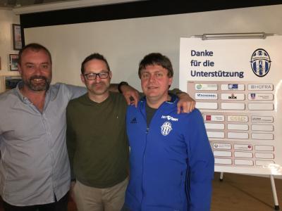 """Sie führen die Jugendfördergemeinschaft """"Oberes Egertal"""" (von links): Rainer Stark, FC Vorwärts Röslau, Heiko Layritz, VFC Kirchenlamitz, und Frank Gesell, SpVgg Weißenstadt."""