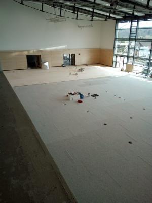 Vorschaubild zur Meldung: Baufortschritt Lonetalhalle