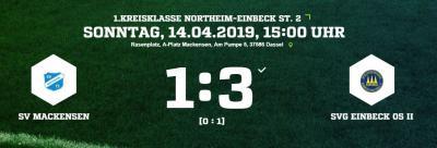 Vorschaubild zur Meldung: Fußball: 1. Mannschaft verliert 1:3 gegen Einbeck II