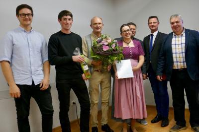 Von links Konstantin Seitz, Fabian Deml, Jürgen Soldwisch, Bernadette Kunz, Werner Kuhn, ,Sepp Weitzer, Anton Rothfischer
