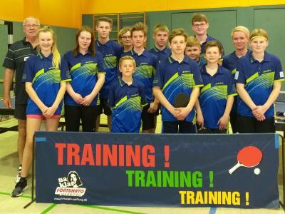 Erfolgreiche Nachwuchs-Tischtennisabteilung