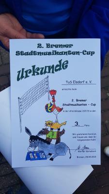 Foto zur Meldung: Elsdorfs Volleyball-Mädchen erfolgreich beim Stadtmusikanten Cup in Bremen!