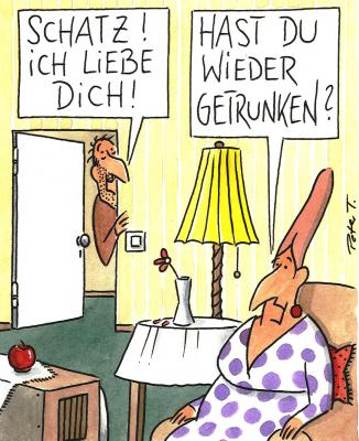 Cartoon von Peter Thulke