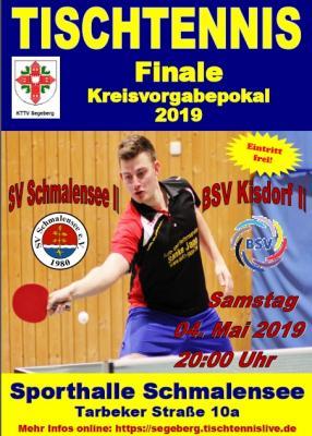 Foto zur Meldung: Tischtennis-Pokalfinale am 4. Mai in Schmalensee