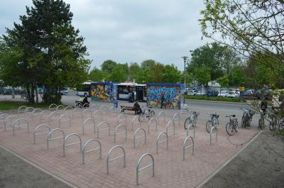 Rund einhundert Fahrradstellplätze wurden am Nauener Bahnhof geschaffen.