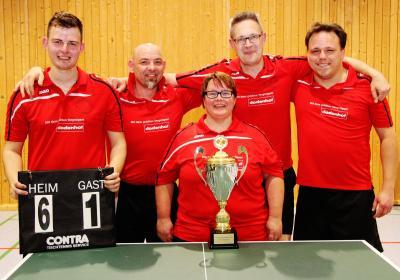 Die Siegermannschaft - Marco Bohnensack, Bernd Figura, Yvonne Wenzel, Olaf Suhr und Christopher Brust