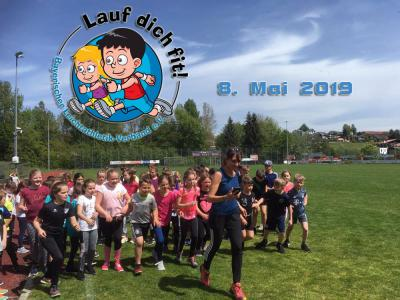 Die Grundschüler starten zur LAUF DICH FIT Challenge!