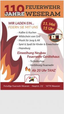 Vorschaubild zur Meldung: 110 Jahre Feuerwehr Weseram