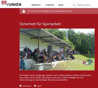 Unser Projekt auf 99Funken.de