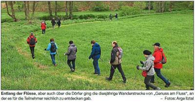 """Vorschaubild zur Meldung: 580 Wanderer bei """"Genuss am Fluss"""""""