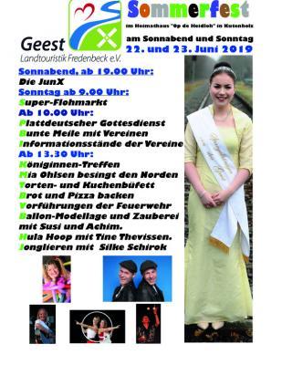 Programm Sommerfest 23.06.2019 in Kutenholz