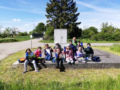 Foto zur Meldung: Ausflug zum Wasserhochbehälter Enzberg