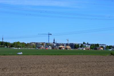 Blick auf das Neubaugebiet im Südwesten Nauens im Frühjahr 2019