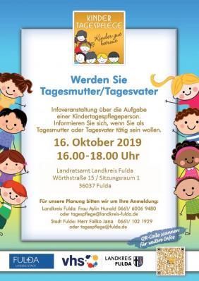 Vorschaubild zur Meldung: Werden Sie Tagesmutter/Tagesvater - Infoveranstaltung des Landkreises am 16. Oktober