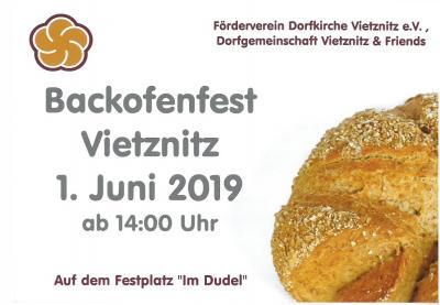 Foto zur Meldung: Backofenfest in Vietznitz am 01.06.2019