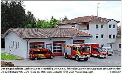 Vorschaubild zur Meldung: Die Feuerwehr braucht ein neues Dach