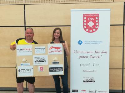 Organisator Andreas Erhard freut sich über den hohen Spendenbetrag.