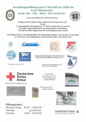 Vorschaubild zur Meldung: Ausstellungseröffnung Kyritzer Vereine