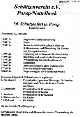 Foto zur Meldung: 30. Schützenfest in Porep