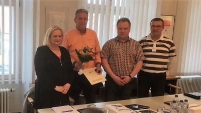 Foto zu Meldung: Der Bürgermeister der Peenestadt Neukalen ganz überrascht
