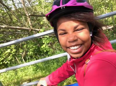 Vorschaubild zur Meldung: Auf Radtour mit der Patenklasse