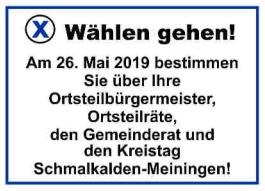 Vorschaubild zur Meldung: Wählen gehen am Sonntag, 26. Mai