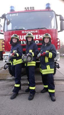 Frauenpower bei der Feuerwehr Roskow!