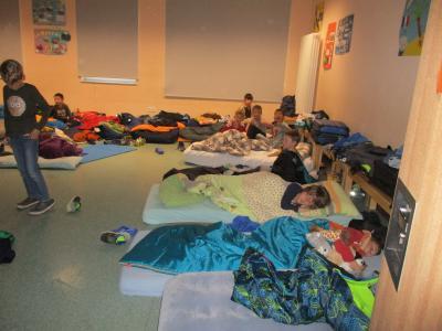 Foto zur Meldung: Übernachtung in der FGTS Marpingen