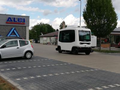 Vorschaubild zur Meldung: Autonom fahrender Bus - Einmessfahrten haben begonnen
