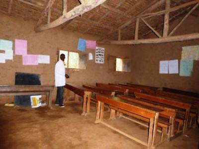 Alter Klassenraum der Primarschule Cyamatare