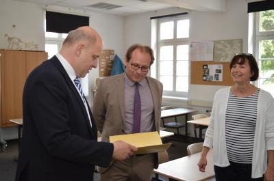 Roger Lewandowski, Manuel Meger und Heike Dietrich (v. l.).