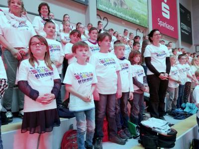 Foto zur Meldung: Klasse! Wir singen - in der Palmberg Arena Schwerin