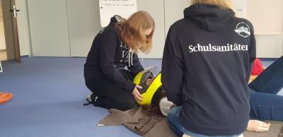 Vorschaubild zur Meldung: Unser Schulsanitätsdienst beim JJ-Fortbildungstag am 11.05.2019