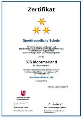 Vorschaubild zur Meldung: Auszeichnung zur Sportfreundlichen Schule