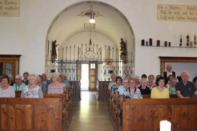 Vorschaubild zur Meldung: Die Senioren genossen die Fahrt zum Kolmsteiner Kircherl