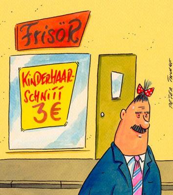 Cartoon aus der Ausstellung von Peter Thulke