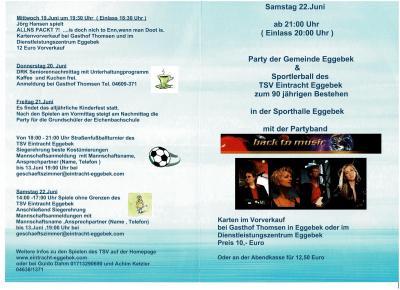 Programm Tage der Begegnung 19.-23.06.2019