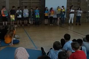 Vorschaubild zur Meldung: Schülerversammlung in der Mittelschule Sennfeld