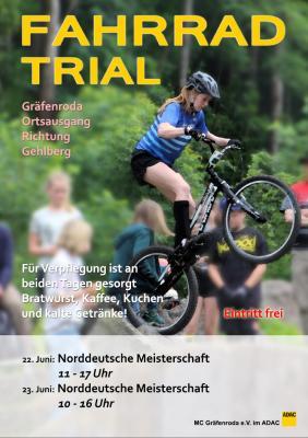 Foto zur Meldung: Wertungslauf zur Norddeutschen Meisterschaft im Fahrradtrial