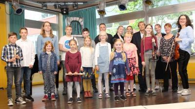 Foto zur Meldung: Musikschüler begeistern Publikum