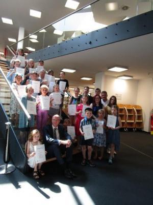 Foto zur Meldung: Rezitatorenwettbewerb in der Stadtbibliothek Oranienburg