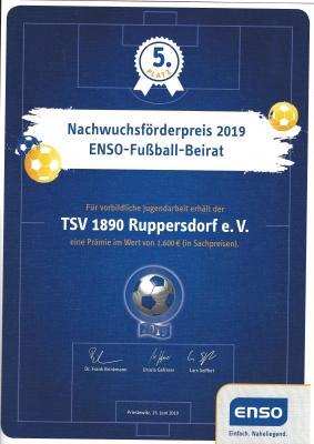 Foto zur Meldung: Ruppersdorf für vorbildliche Nachwuchsarbeit ausgezeichnet