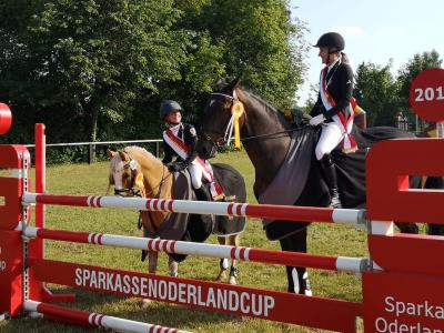 zwei Schärpen für Reiterinnen aus Münchehofe