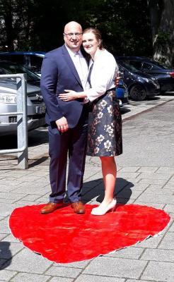 Foto zur Meldung: Hochzeit Karin und Birger Tepp