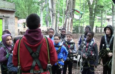 Vorschaubild zur Meldung: Klasse 4b - Kletterpark - Mai 2019