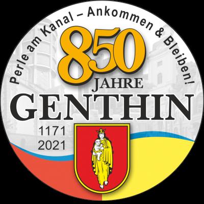 Vorschaubild zur Meldung: Logo & Slogan machen aufs Stadtjubiläum aufmerksam! 850-Jahrfeier Stadt Genthin