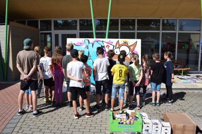 Vorschaubild zur Meldung: Graffiti - Projekt zum Abschluss der Klasse 4
