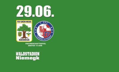 Vorschaubild zur Meldung: Am Samstag heißt es: Grün-Weiß Niemegk (männl.) : 1. FFC Turbine Potsdam (weibl.)