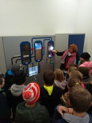 Vorschaubild zur Meldung: Die Klasse 4 besichtigt das Wasserwerk  Sulzfeld