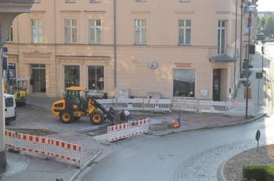Vorschaubild zur Meldung: Vollsperrung der Goethestraße vom 08.07. bis voraussichtlich 06.08.2019 im Zufahrtsbereich Kreisverkehr Rathaus